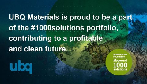UBQ selected as part of Solar Impulse #1000Solutions
