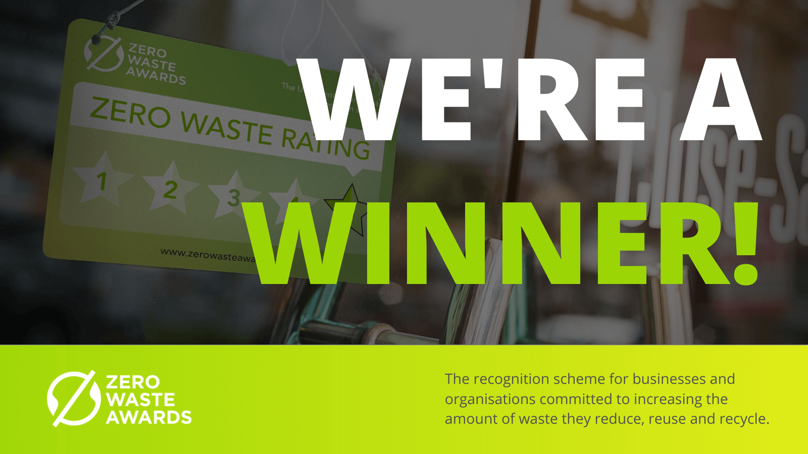 UBQ Materials has been awarded at the Zero Waste Awards